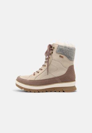 Winter boots - rose/beige