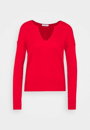 LOGO OPEN NECK  - Jumper - red glare