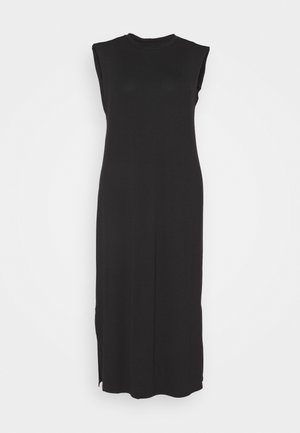 SHOULDER PAD DRESS - Maxi šaty - black