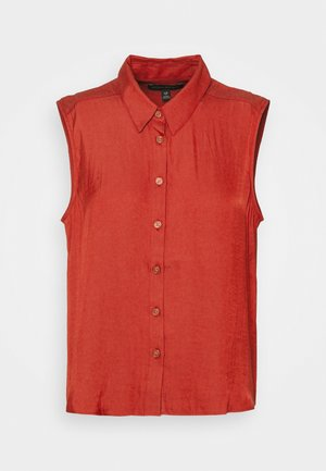 BUTTON UP - Blouse - red clay