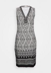 Esqualo - DRESS IKAT PRINT - Sukienka etui - black - 0
