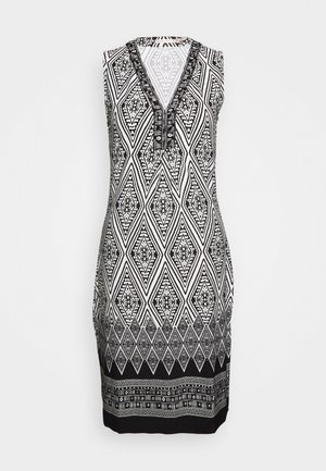 DRESS IKAT PRINT - Sukienka etui - black