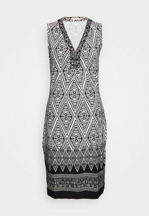 DRESS IKAT PRINT - Shift dress - black