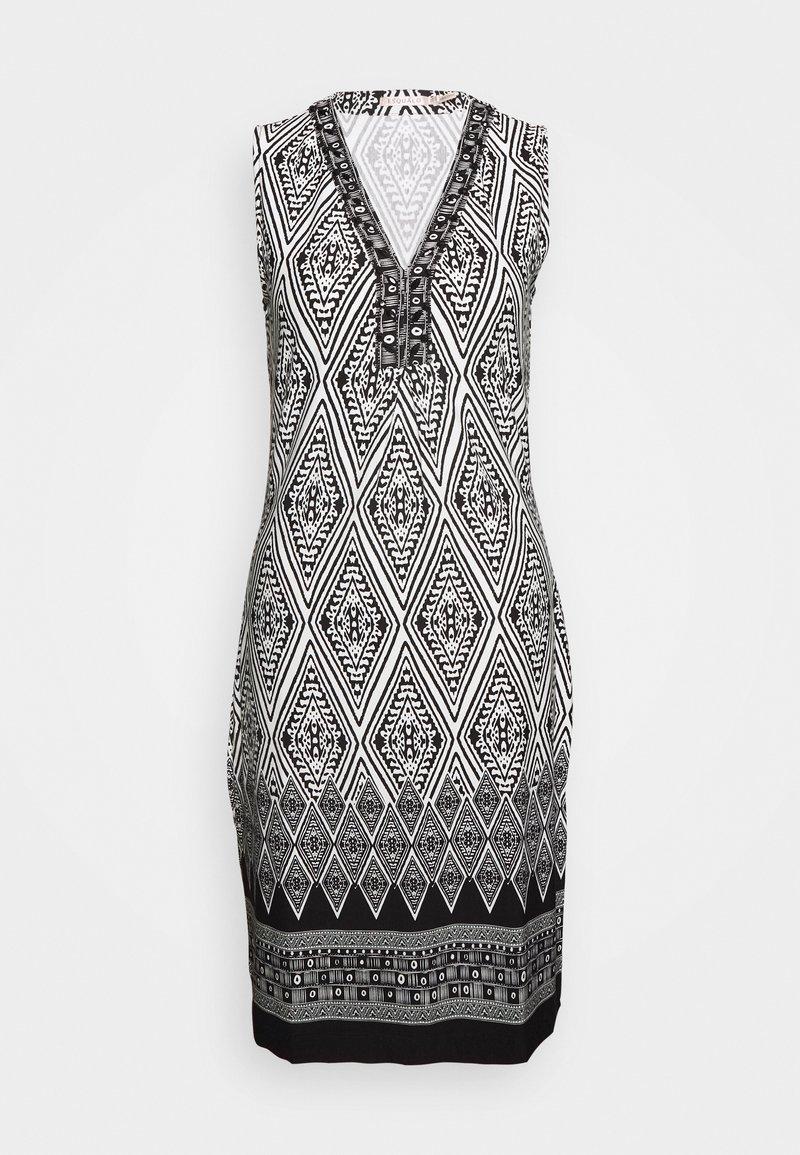 Esqualo - DRESS IKAT PRINT - Sukienka etui - black