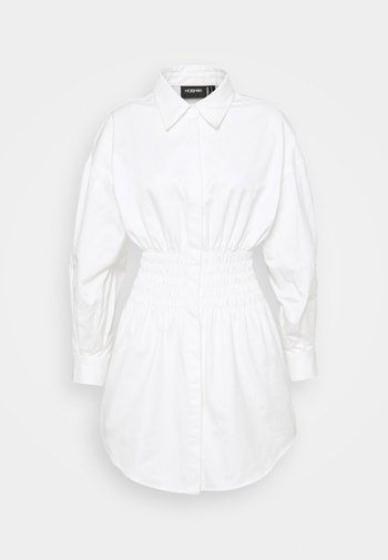 THE SHADOW DRESS - Shirt dress - white