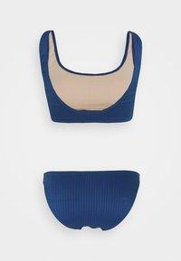 Cotton On Body - SQUARE NECK CROP FULL BOTTOM - Bikini - marina blue - 6
