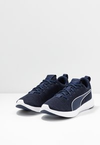 Puma - SOFTRIDE VITAL CLEAN - Neutral running shoes - peacoat/black/white