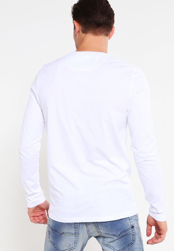 Lyle & Scott CREW NECK PLAIN - Bluzka z długim rękawem - white/biały Odzież Męska HXRB