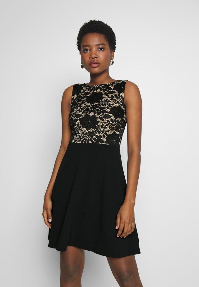 FIT FLARE CONTRAST - Cocktailkleid/festliches Kleid - beige/black