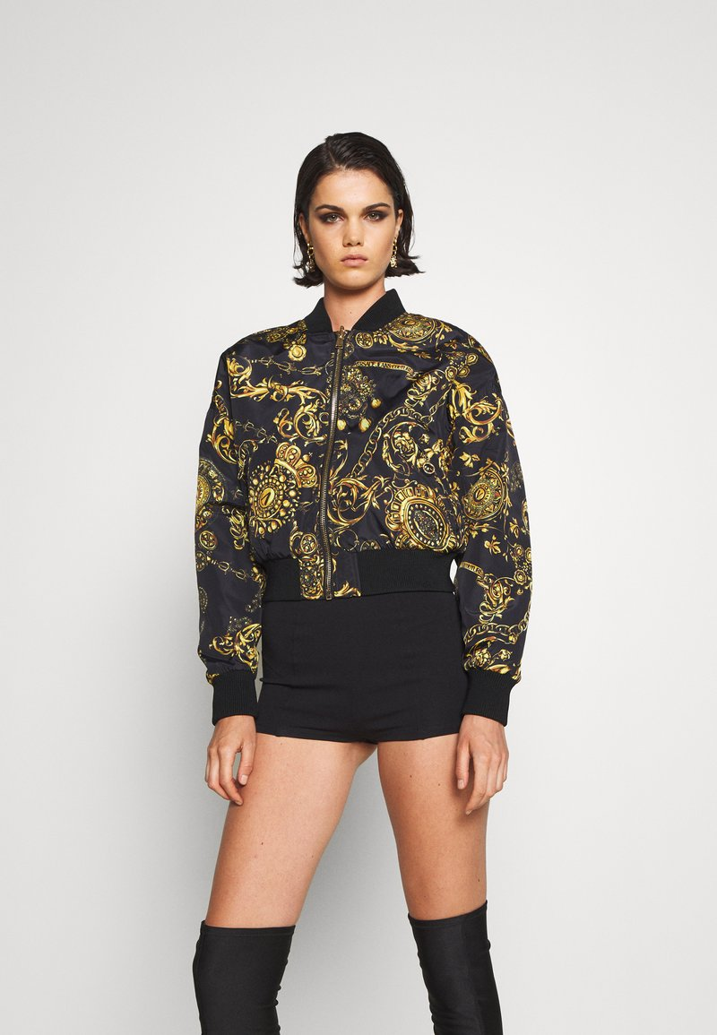 Versace Jeans Couture - OUTERWEAR - Bomber Jacket - black/gold