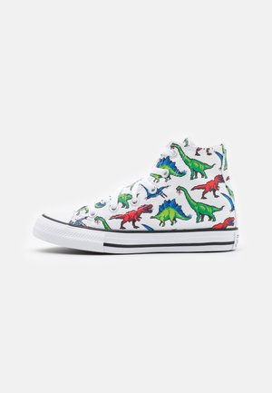 CHUCK TAYLOR ALL STAR DIGITAL DINOVERSE UNISEX - Korkeavartiset tennarit - white/bold wasabi/digital blue