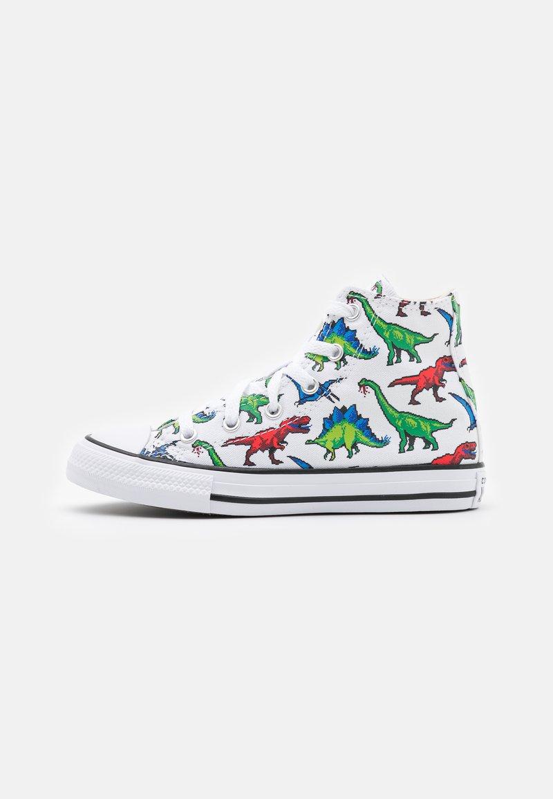 Converse - CHUCK TAYLOR ALL STAR DIGITAL DINOVERSE UNISEX - Sneakers hoog - white/bold wasabi/digital blue