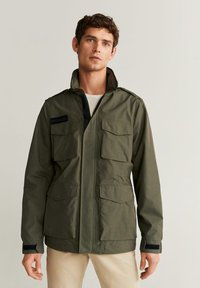Mango - ARMY - Light jacket - khaki - 0