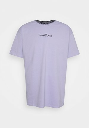 CONTRAST LOGO JACQUARD - T-shirt con stampa - purple