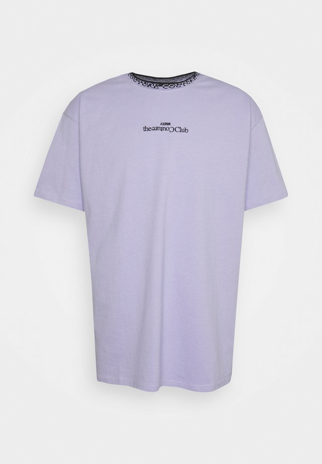 CONTRAST LOGO JACQUARD - T-shirt con stampa - purple