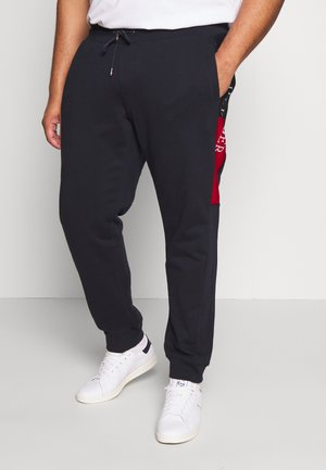 INTARSIA - Tracksuit bottoms - blue