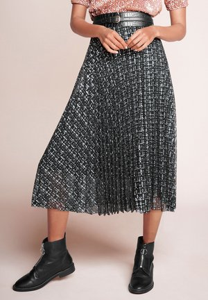 A-line skirt - metallic grey