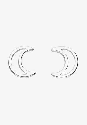 AUS 925ER SILBER MIT CUT-OUT-MOTIV, HALBMOND-MOTIV - Earrings - silberfarben