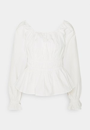 PCLAERKE - Long sleeved top - cloud dancer