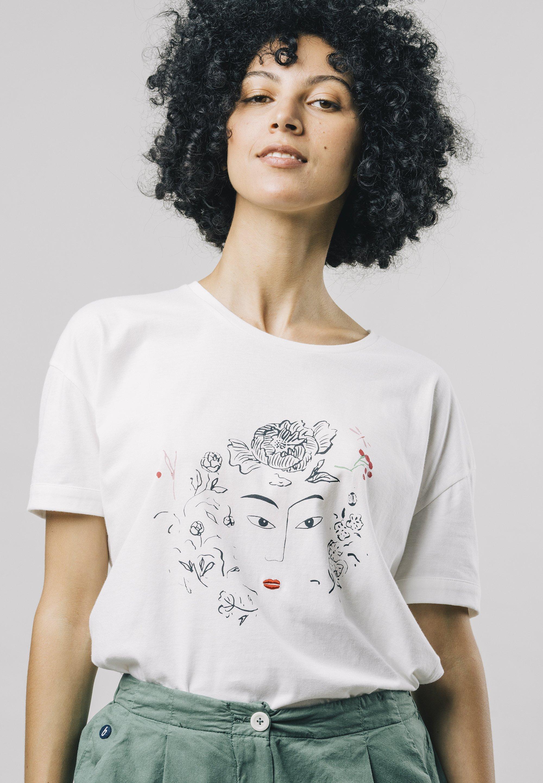 Damen FLOWER FACE  - T-Shirt print