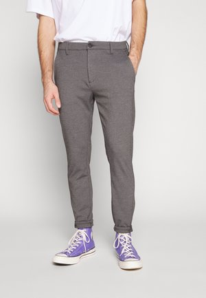 Chinos - light grey melange