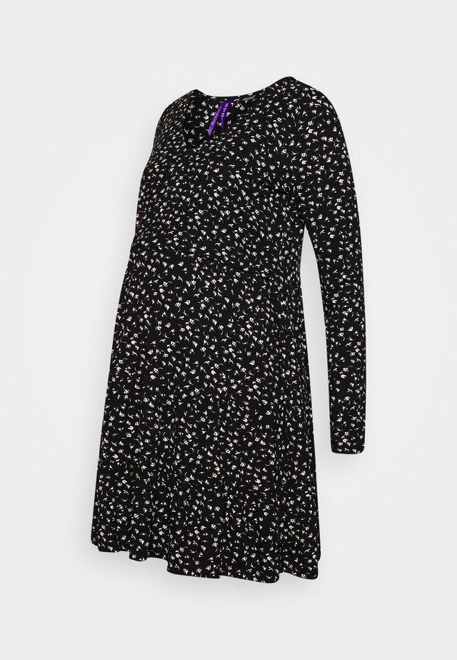 SIMONA - Vestito di maglina - black