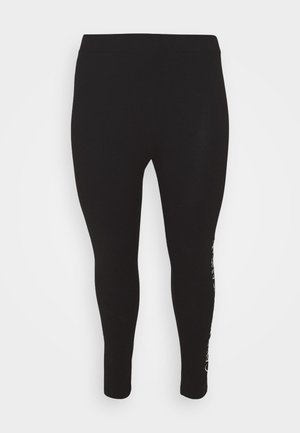 MIRRORED LOGO - Leggings - Trousers - black