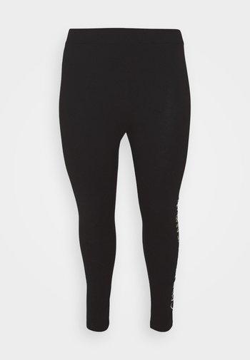 MIRRORED LOGO - Leggings - Trousers - black
