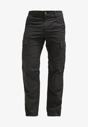 REGULAR COLUMBIA - Cargo trousers - black rinsed