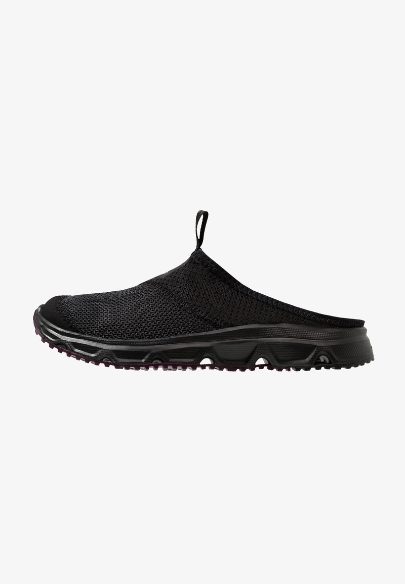 Salomon - RX SLIDE 4.0  - Walking sandals - black/potent purple