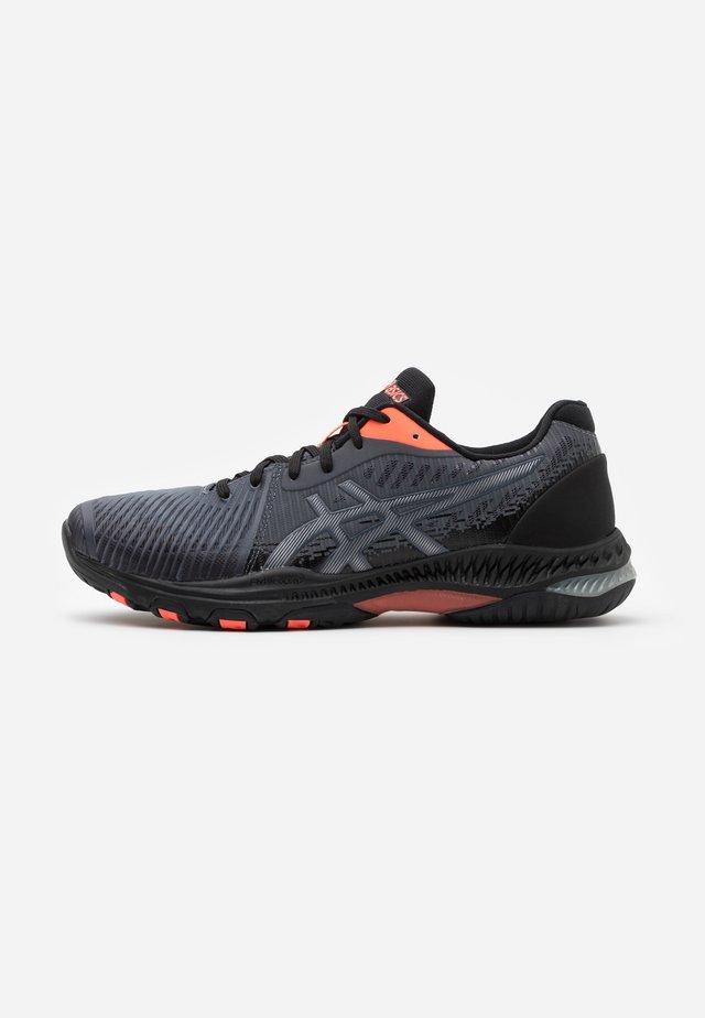 NETBURNER BALLISTIC L.E. - Chaussures de volley - black/sunrise red