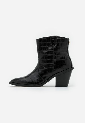 DOLLY ZIPPER BOOT - Cowboystøvletter - black