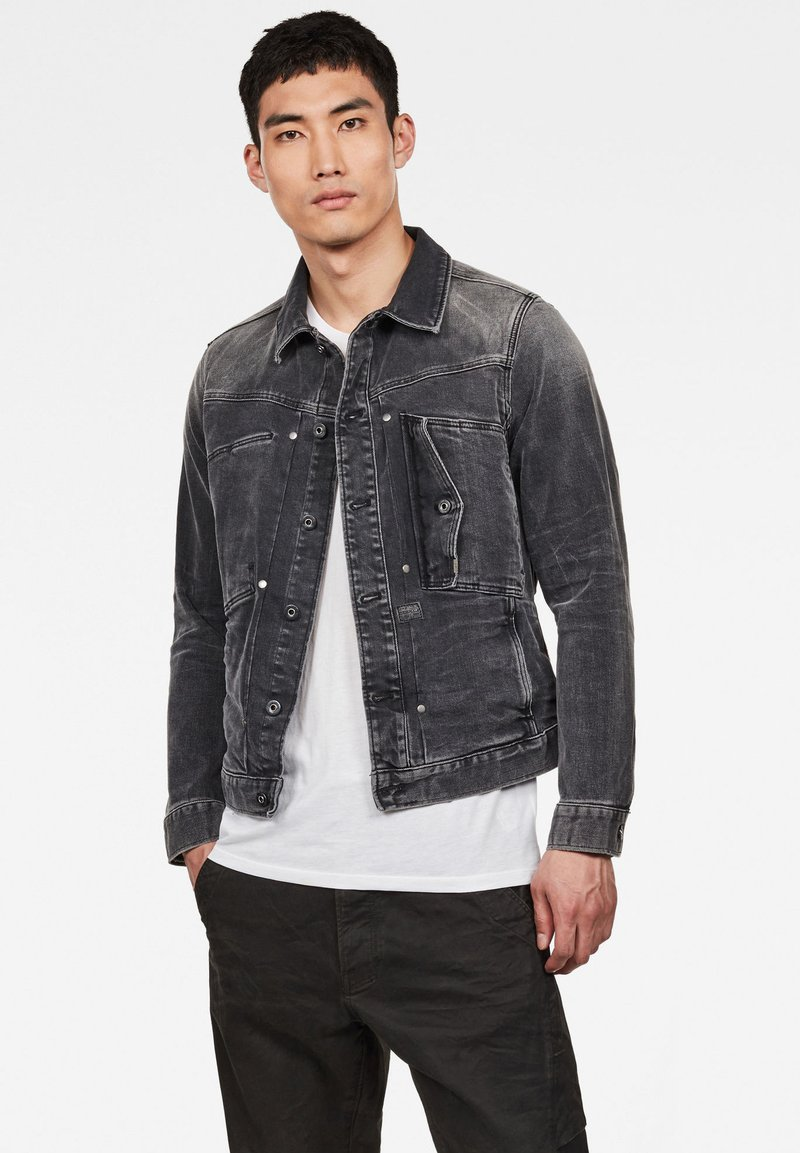 G-Star - SCUTAR SLIM - Denim jacket - antic charcoal