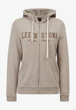 KIMBERLY - Zip-up sweatshirt - light brown melange