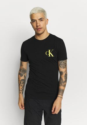 INSTIT POP LOGO SLIM TEE - T-shirt imprimé - black
