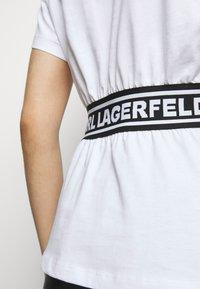KARL LAGERFELD - LOGO TAPE - Pyjama top - white - 4