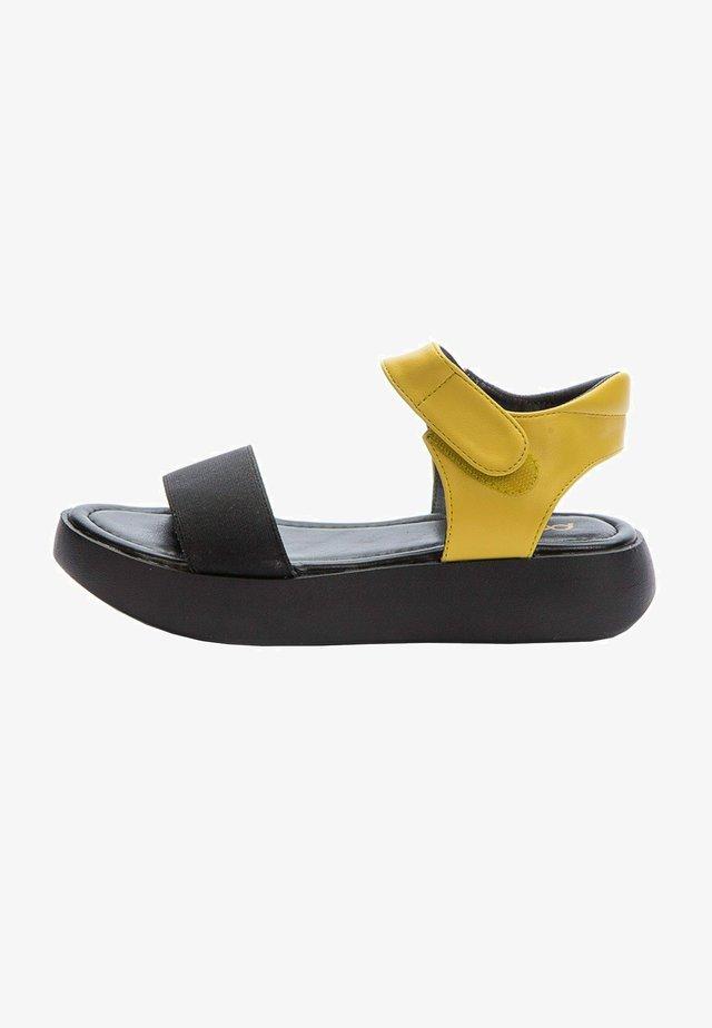 Sandals - yellow  black