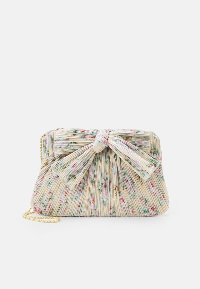 PLEATED FRAME CLUTCH WITH BOW - Clutch - tan