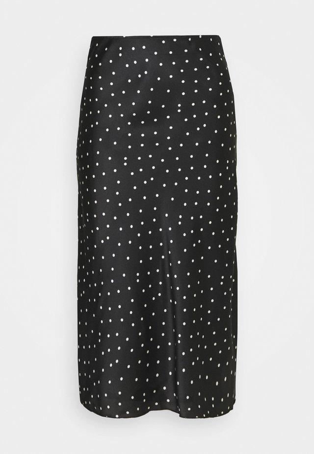 MIDI SKIRT - A-line skirt - black