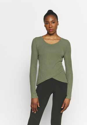 WRAP FRONT - Long sleeved top - desert cactus