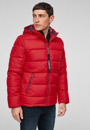 ABNEHMBARER KAPUZE - Winter jacket - dark red
