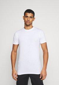 Denim Project - 5 PACK  - T-shirt - bas - olive night melange/bordeaux melange - 2