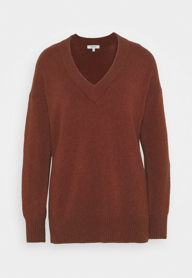 JASON EX BOYFRIEND SWEATER - Maglione - burnished mahogany