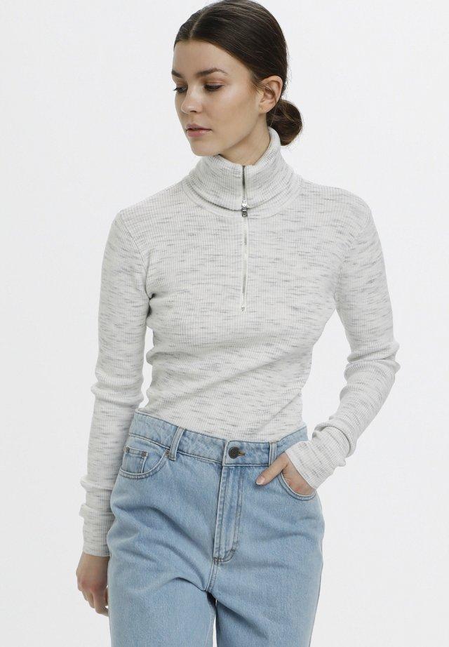 Sweter - off white melange