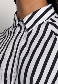 Selected Femme - SLFTILDA LS LONG SHIRT STRIPE - Button-down blouse - black - 4