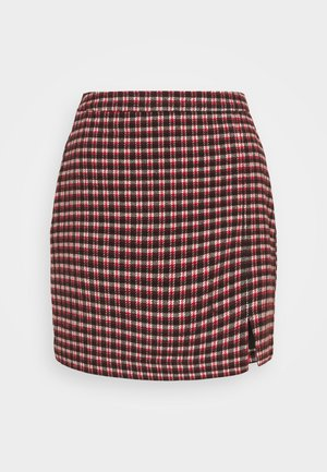 PLAID MINI NA - Mini skirt - red/cream/black