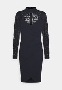 WAL G. - SONIA LACE DETAIL MIDI DRESS - Cocktail dress / Party dress - navy blue - 4