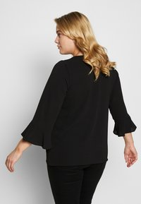 Evans - FRONT FRILL SLEEVE  - Camicetta - black - 2