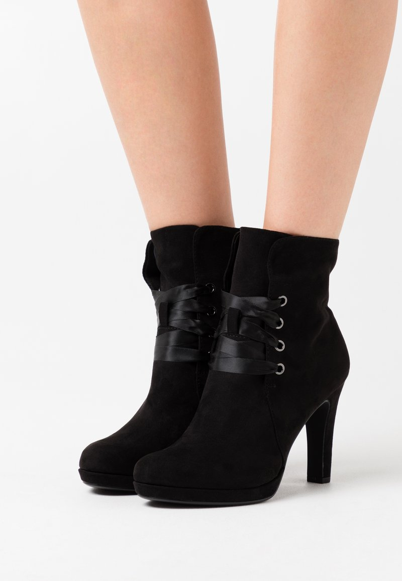 Tamaris - High heeled ankle boots - black