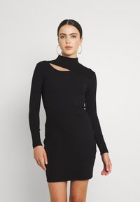 Forever New - CUT OUT DRESS - Žerzejové šaty - black - 0